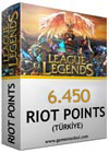 6450 LOL Riot Points TR